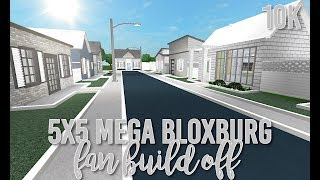 Roblox ? MEGA Bloxburg 5X5 Fan Neighborhood Build Off