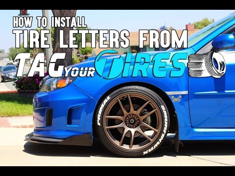 How to Install Tire Letters from Tag Your Tires .com