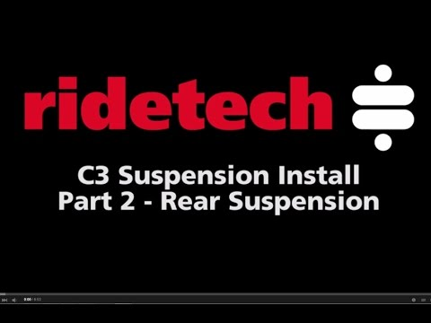 RideTech C3 1968-79 Corvette Part 2 Rear Suspension Installation