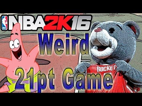 NBA 2K16 MyPark   Weirdest 21pt Game