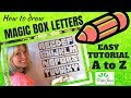 MAGIC BOX LETTER TUTORIAL (A to Z) Sketching, Teaching, Sunday School, Bible lessons for Kids