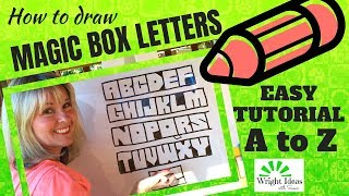 BOX LETTERS TUTORIAL (A to Z) Sketching, Teaching, Sunday School, Bible lessons & Ministry