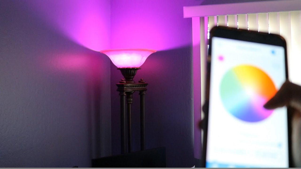 The Light Bulb That Changes Color Remotely From Your Smartphone 💡   YouTube Idea