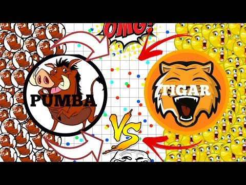 AGAR.IO - PUMBA VS TIGAR!! WHO IS THE BEST TO TROLL IN AGARIO?!?