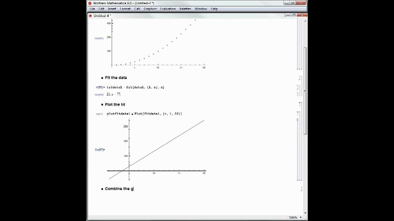 Hands-on Start to Mathematica: Complete Example