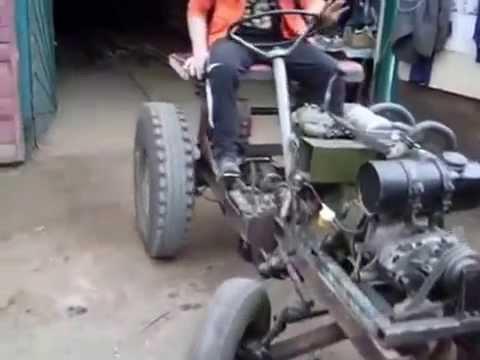 Минитрактор своими руками с двигателем уд2