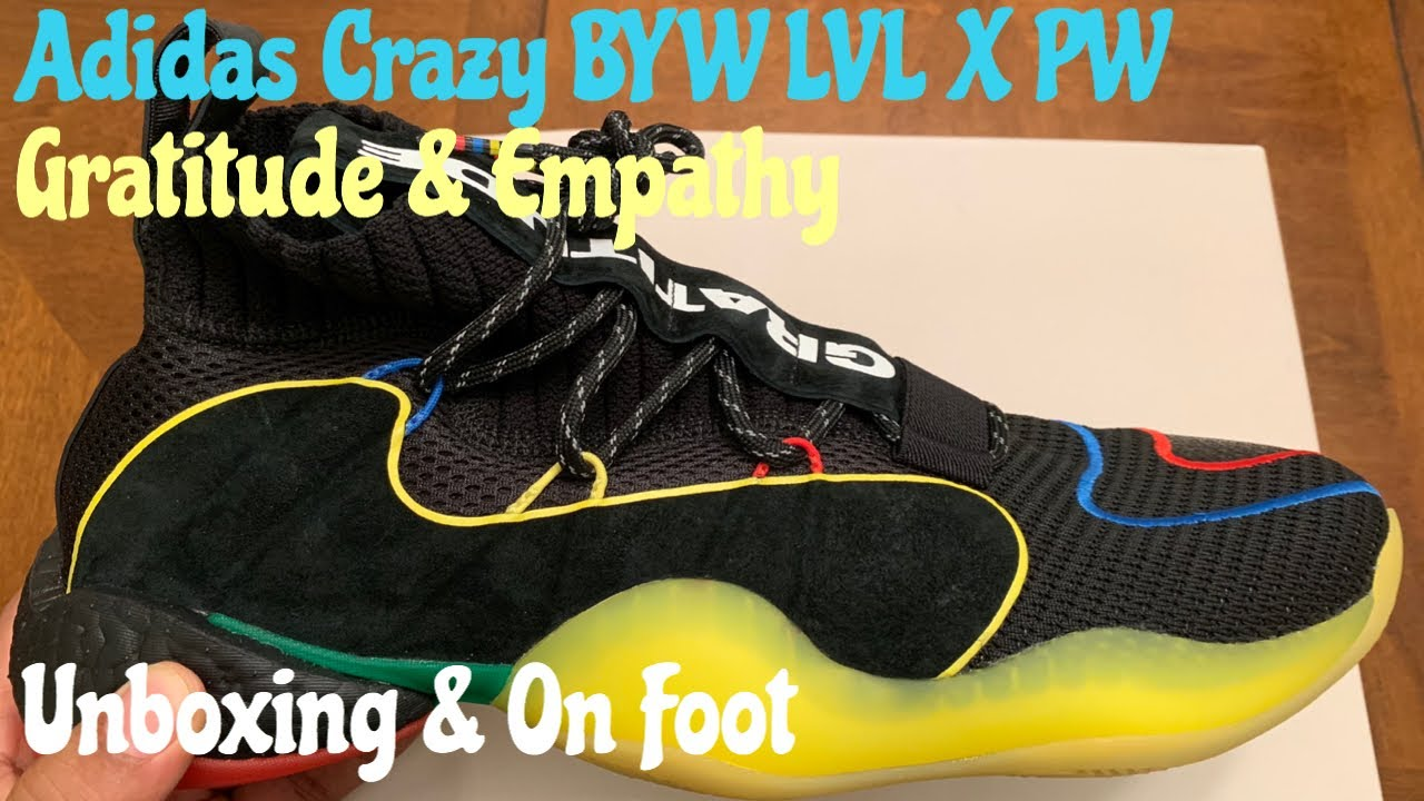9d5714414 Adidas Crazy BYW LVL X PW. Unboxing   On Foot w  McFly KOF. - YouTube