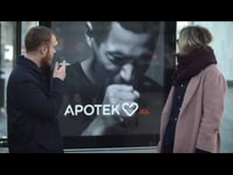Apotek | The Coughing Billboard | Best Anti-Smoking Ads Ever | Swedish Pharmacy Commercial Billboard