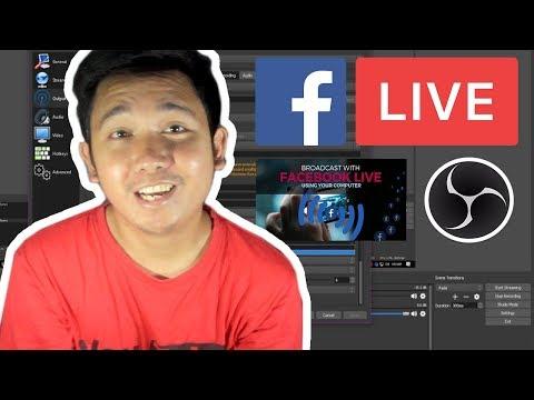 Paano Mag-Livestream Sa Facebook Gamit OBS Studio