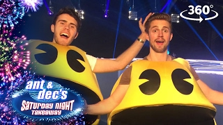 Alfie Deyes & Marcus Butler Play Life Size Pacman - 360 Video - Saturday Night Takeaway