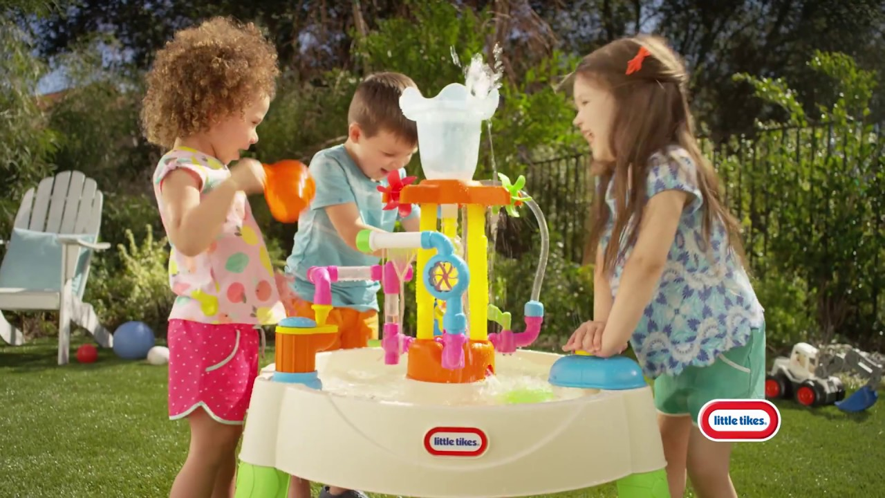 Little Tikes Fountain Factory Water Table - YouTube
