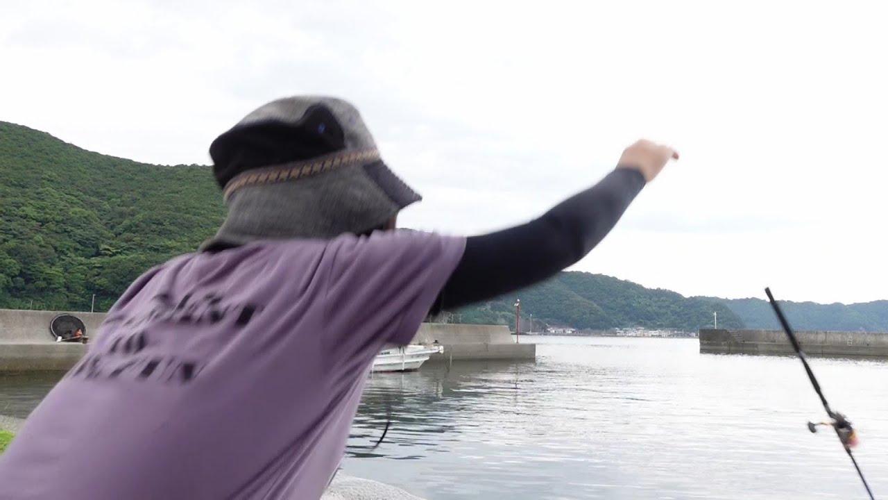 魚に竿が引きずり込まれた!