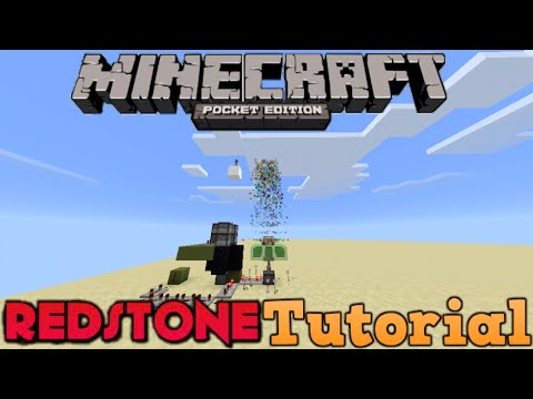 how to make a redstone cannon minecraft pe