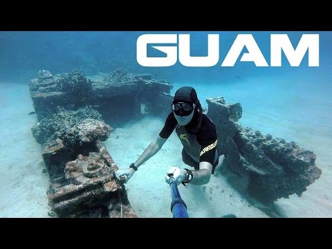 Freediving Guam Amtrak - WW2 Wreck