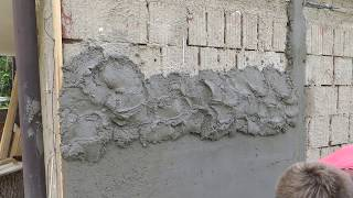Omítka - Omítání venkovní zdi