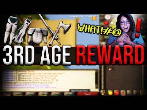 3rd Age Reward From Clue, Finally Gets A Reward OSRS, RuneScape Bug