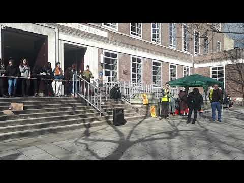 SOAS hard picket, lecture and BBQ 16 March 2018