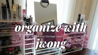 ORGANIZE | MAKEUP COLLECTION  AMAZON Acrylic Storage Drawers | J WONG