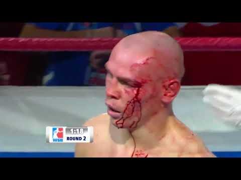 56kg Vladimir NIKITIN (Russian Boxing Team) vs Norlan YERA (Domadores de Cuba)