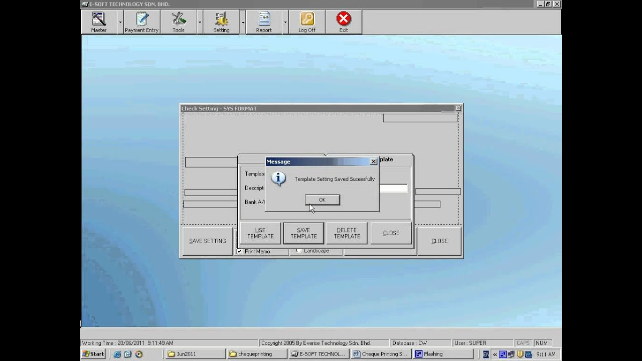 How To Create New And Delete Check / Cheque Template - YouTube