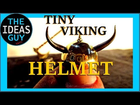 I Make A Tiny Brass Viking Helmet (and it's cute as a button)
