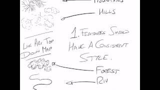 How to draw a top down line art map