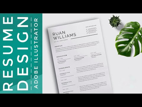 How To Create Resume/CV Template In Adobe