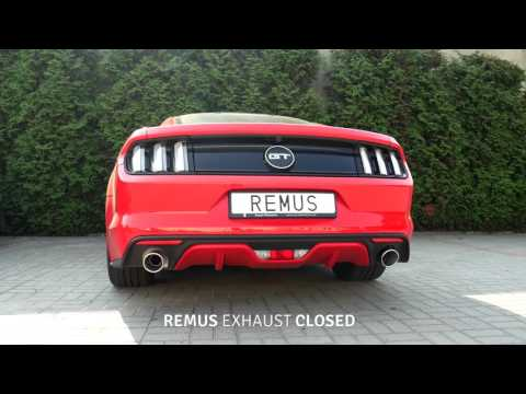 Ford Mustang GT 5.0 V8 With REMUS Valve Exhaust System