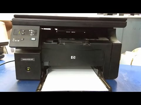 hp laserjet m1132 mfp printing blank pages - YouTube