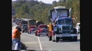 Vintage Heavy Haul Trucks move Edaville Railroad equipment to Maine 09/19/1993