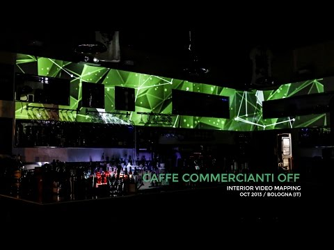 Aelion Project - Caffè Commercianti Off - Interior video mapping