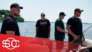 Trevor Matich goes fishing with Wisconsin Badgers' offensive line | SportsCenter | ESPN