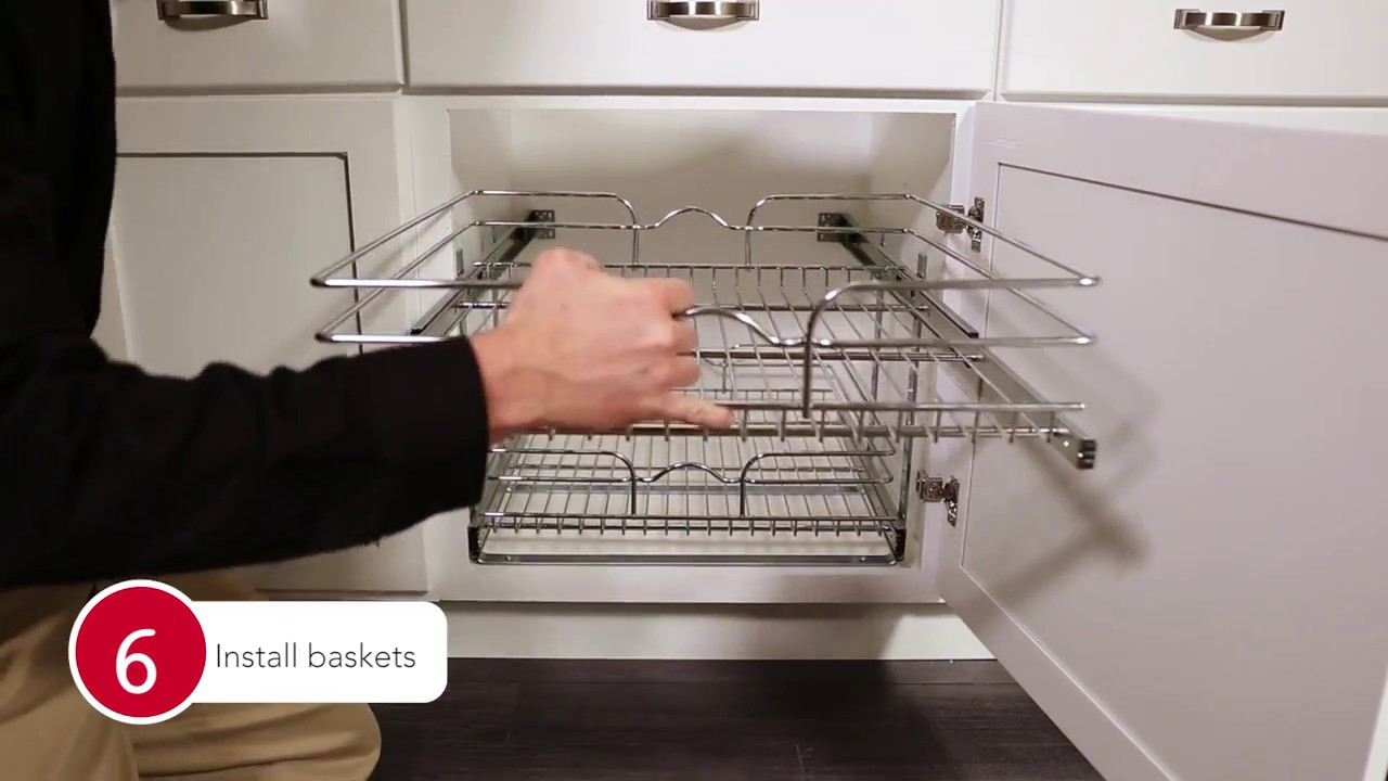 5wb2 Chrome Pull Out Baskets For Your Kitchen Cabinet Installation