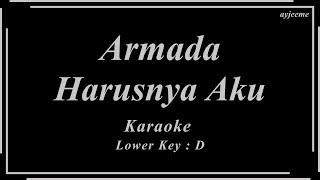 Download lagu Armada - Harusnya Aku (Lower Key) | Ayjeeme Karaoke
