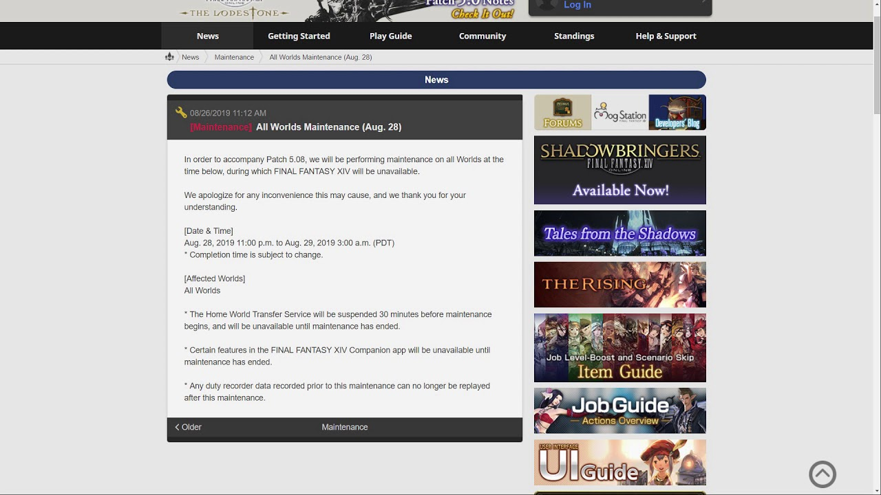 FFXIV: Patch 5 08 is coming!
