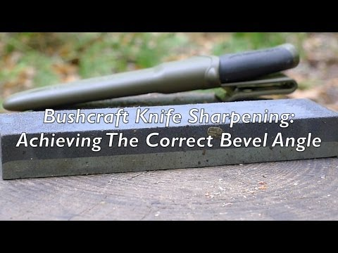 how to make a knife bevel with an angle grinder