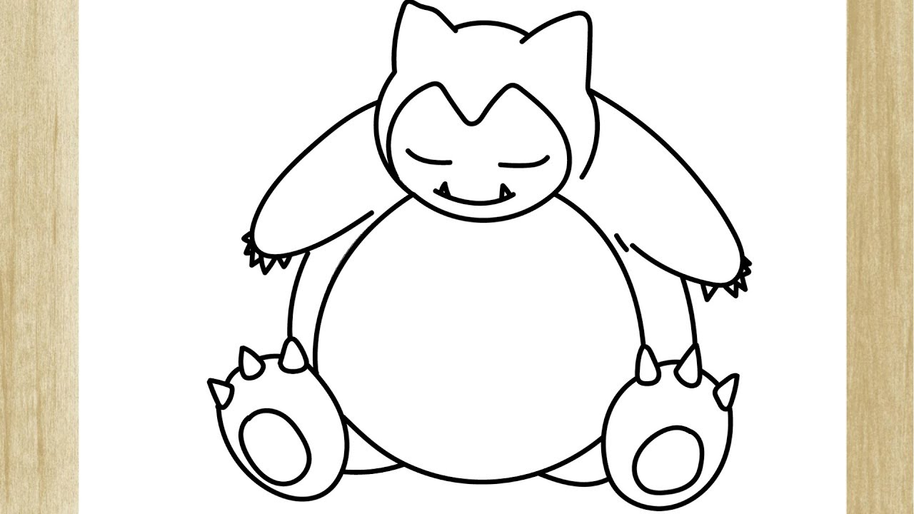 Como Desenhar O Pokemon Snorlax Facilmente Youtube
