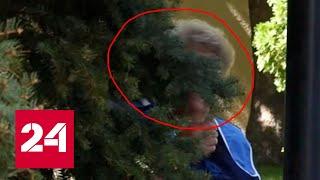 Смотреть видео Женщина-инкогнито следит за Путиным! - Россия 24 онлайн