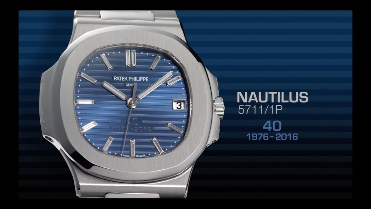 2580fb6f533 40 Years Of Patek Philippe Nautilus Watches  Official Video ...