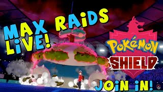 LIVE MEMBER MAX RAIDS! Pokemon Sword & Shield Max Raids With Members!