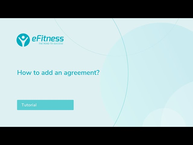 How to add an agreement