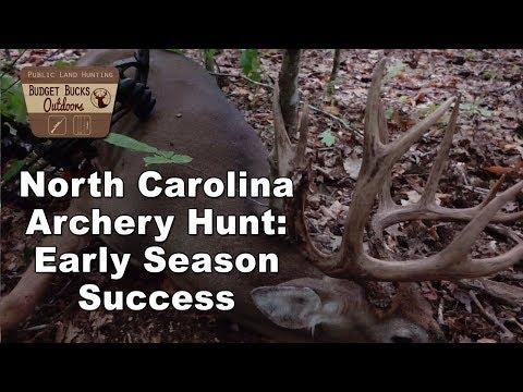 North Carolina Early Season Bow Hunt 2019 - Adam's 13 Point Buck
