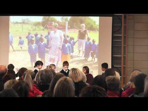 Dylan in harvest festival at Bede Academy