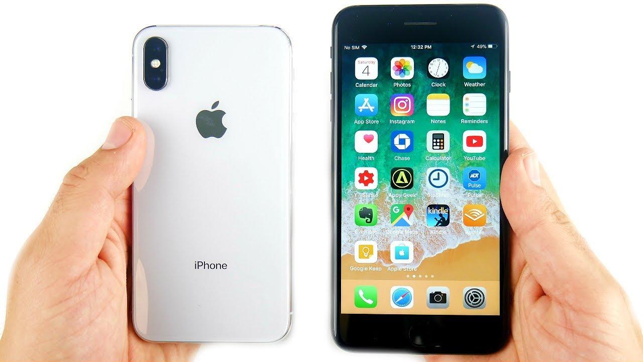 iphone x gegen iphone 7 plus