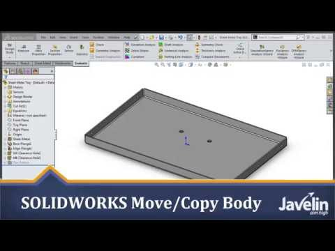 SOLIDWORKS Tutorial - How to Add a Welded Nut to Your Sheet Metal Part using Move-Copy Body