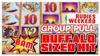 🎰$36/SPIN Group Slot Pull 🐃🏅Buffalo Gold ✦ 👫RUDIES Weekend 2018 Video 🎉 Brian Christopher Slots