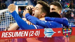 Resumen de Deportivo Alavés vs Levante UD (2-0)