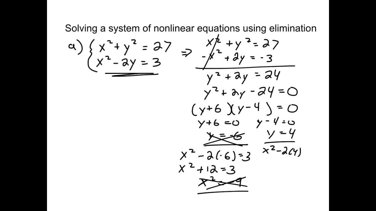 how to solve systems of equations using elimination tessshebaylo. Black Bedroom Furniture Sets. Home Design Ideas