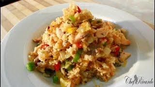 Salmon Fried Rice With Veg
