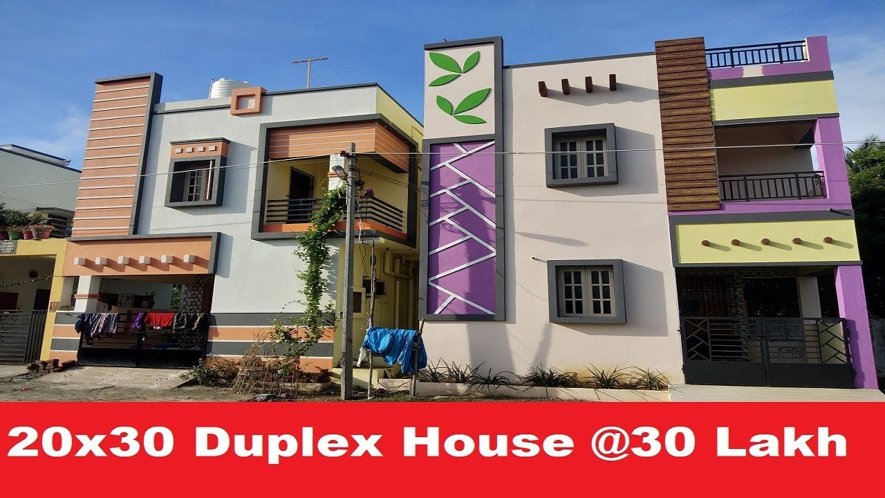 2 BHK Duplex House for Sale, Price @ Rs 30 Lakhs | 20 x 30 Duplex House Plan